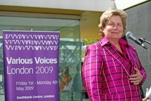 various voices festival/various voices opening/sandy toksvig various voices gay singing festival